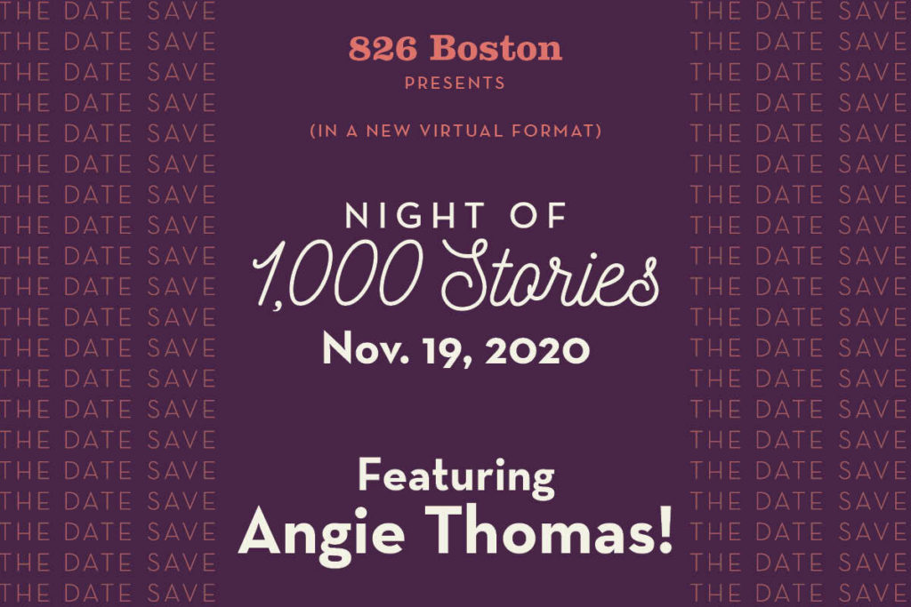 Join us on Nov. 19 for Night of 1,000 Stories, featuring Angie Thomas!