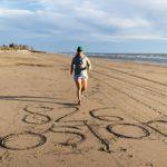 2020 Boston Marathon© runner, Ale, trains on the beach to run for 826 Boston this April.