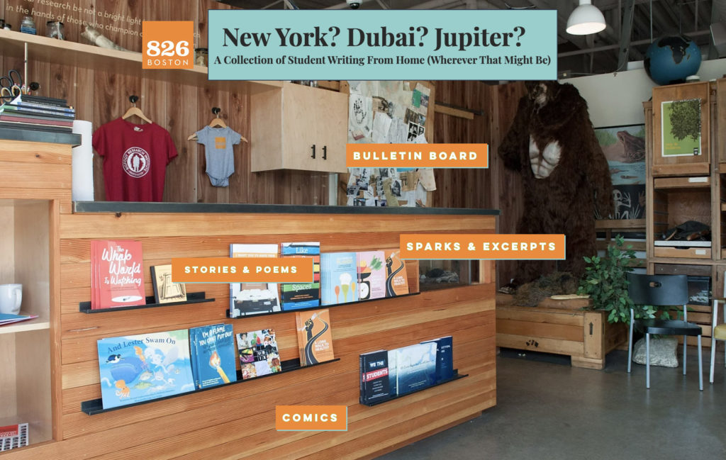 "A homepage screenshot from the ""New York? Dubai? Jupiter?"" Chapbook website."
